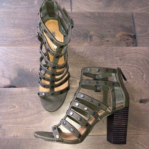 BCBGGeneration Studded Caged Heels